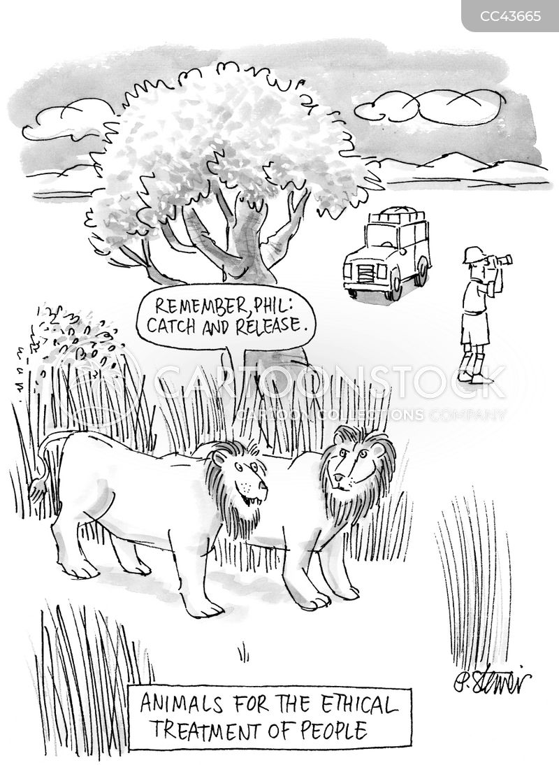 Animal Hunter cartoon