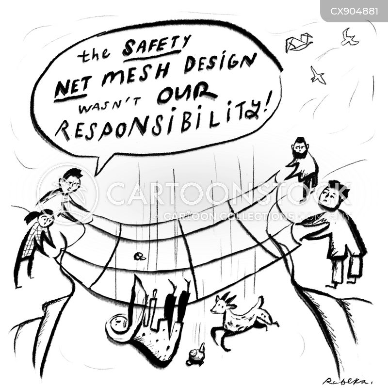social safety net cartoon