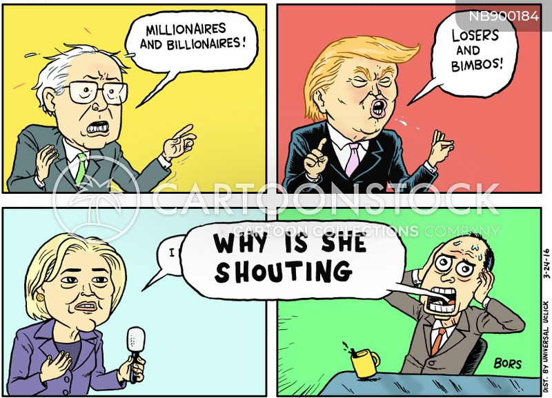 2016 presidential race cartoon
