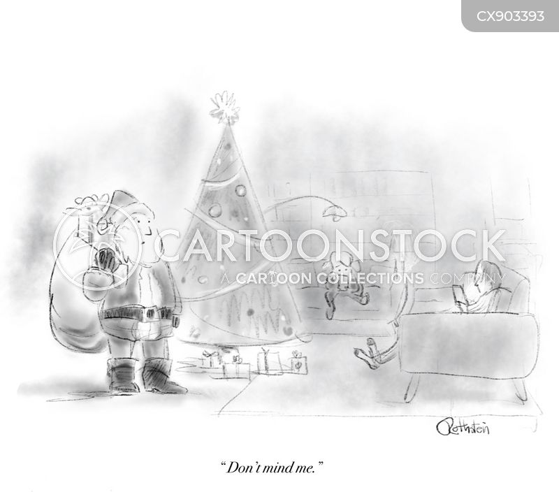christmas scene cartoon