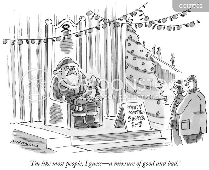 mall santas cartoon