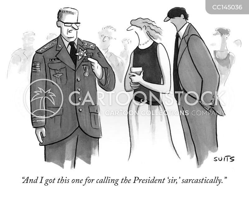 military officers cartoon