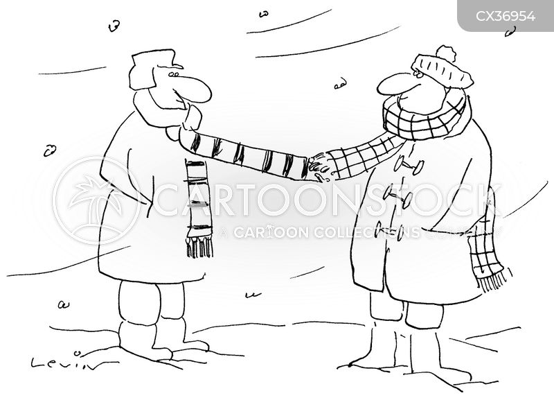 scarves cartoon