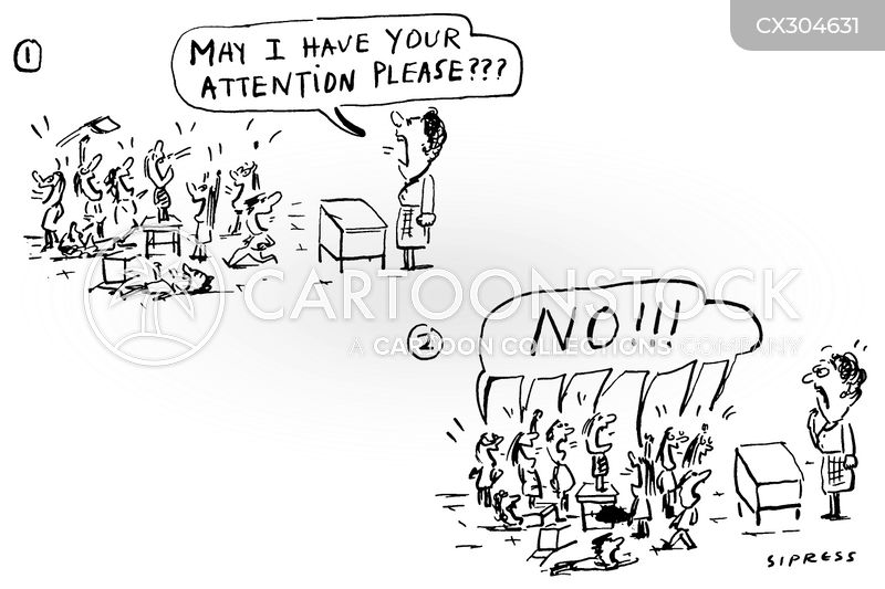 getting attention cartoon