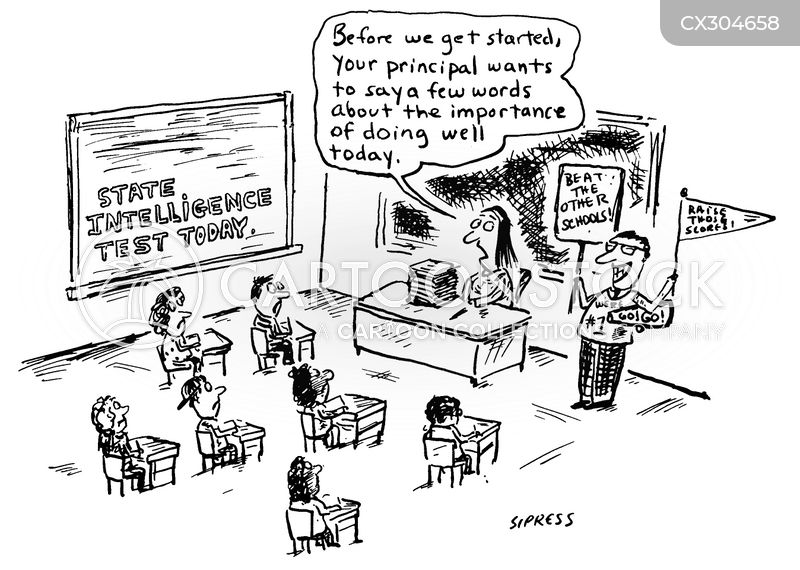 test scores cartoon