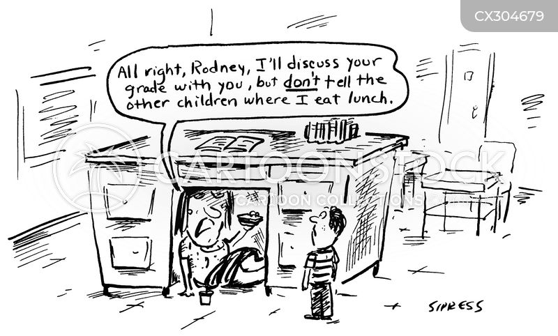 lunchtime cartoon
