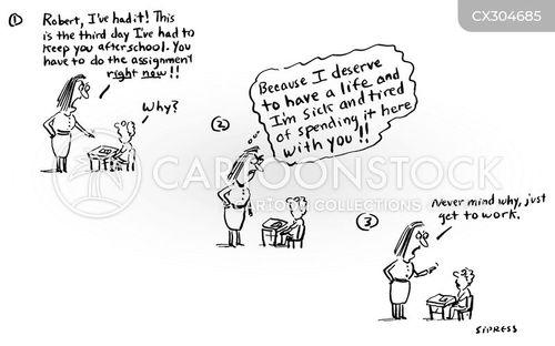 detention cartoon