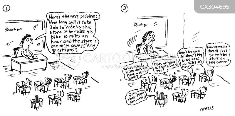 word problem cartoon