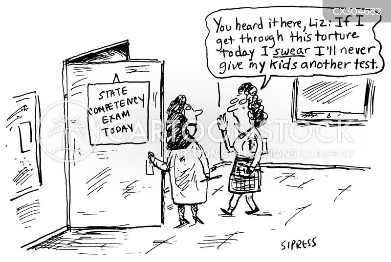 standardised test cartoon