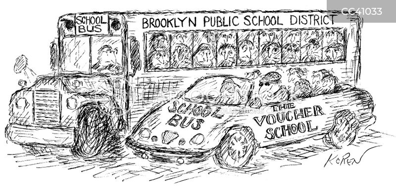 voucher programs cartoon