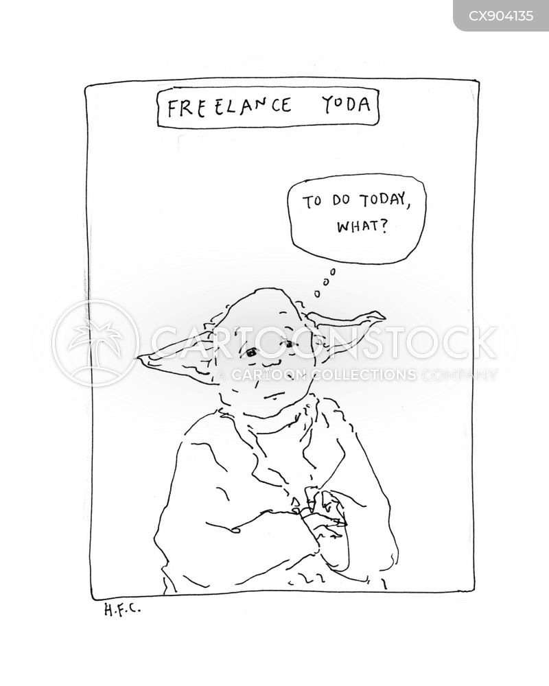 self-employed cartoon