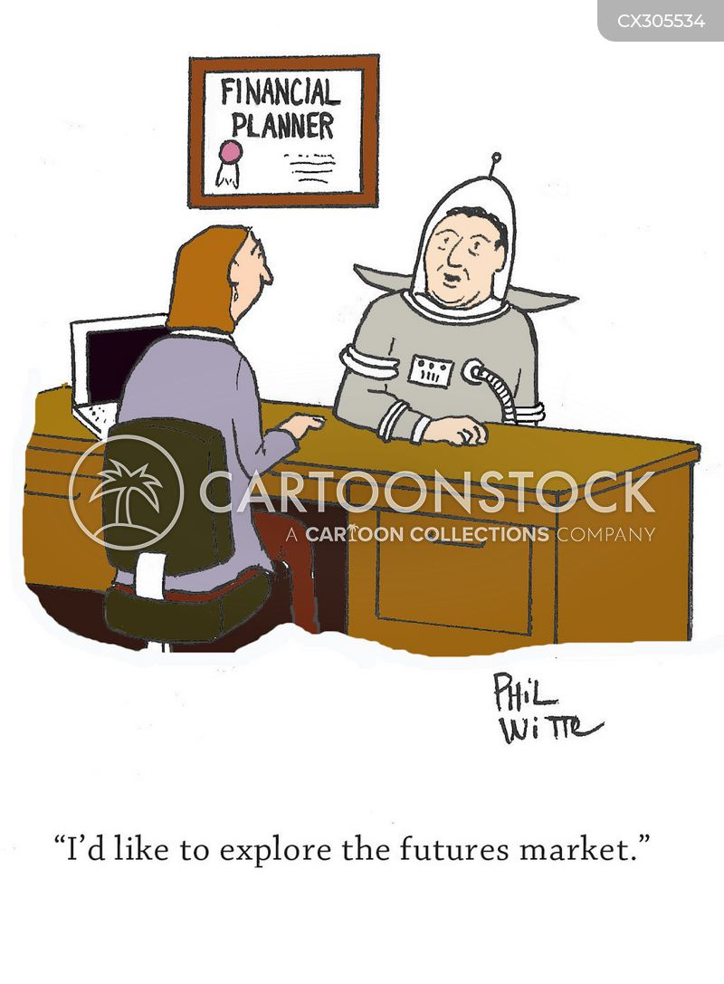 stocks and shares cartoon