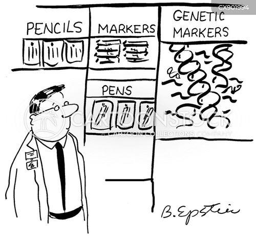 genetic sequence cartoon