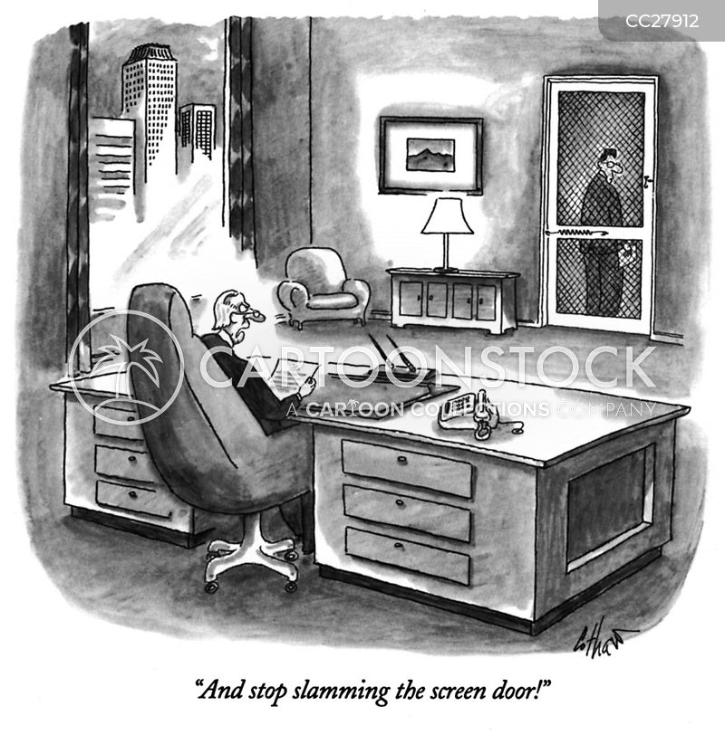 corner office cartoon