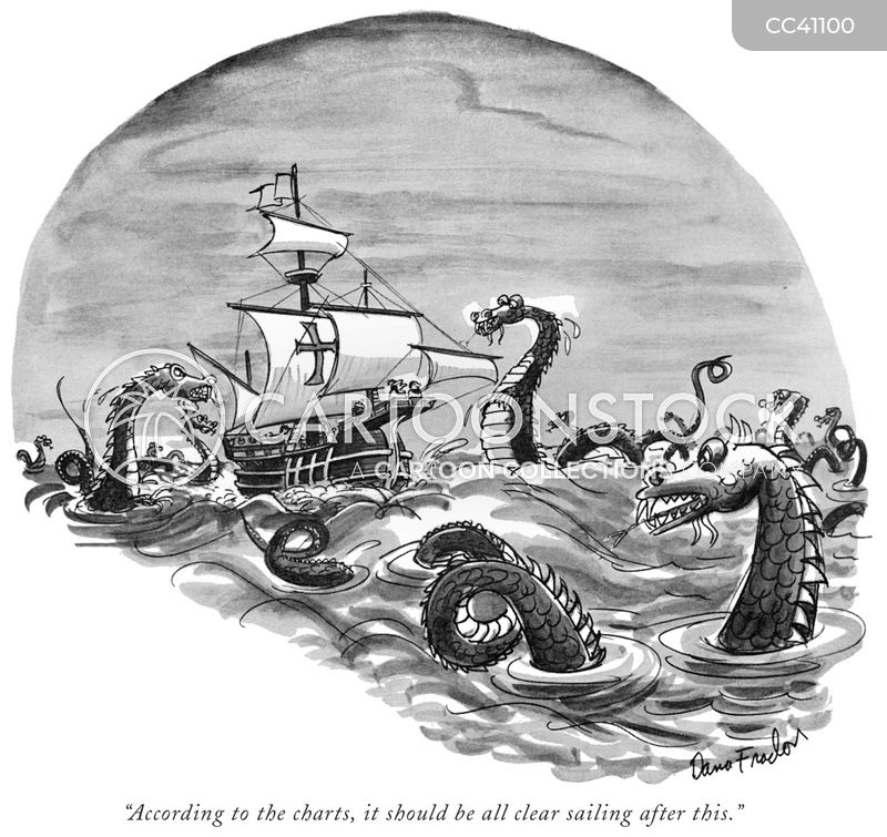 nautical charts cartoon