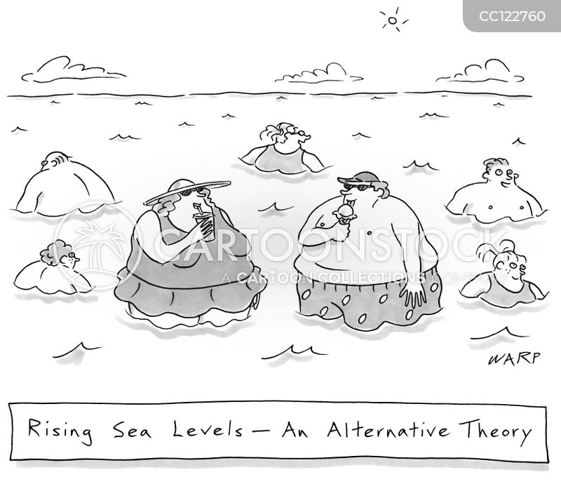 rising sea levels cartoon