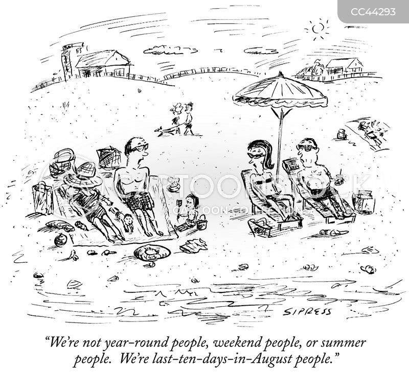 beach holidays cartoon