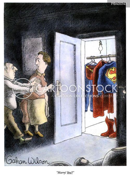 secret identity cartoon
