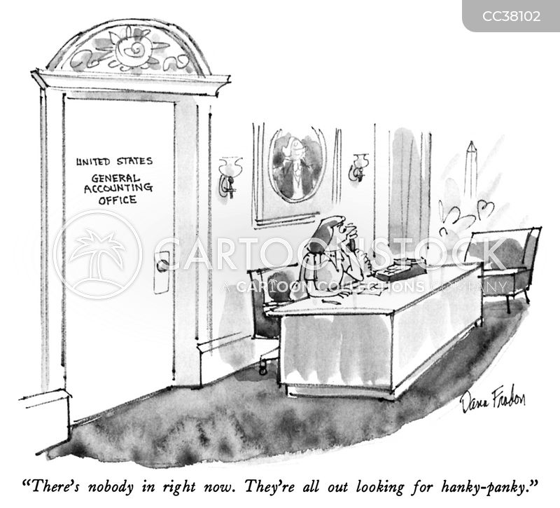 receptionist cartoon