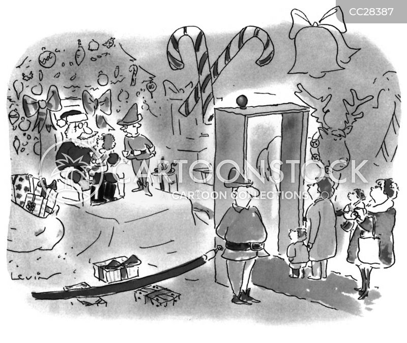 shopping malls cartoon