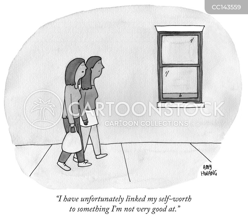 low self-esteem cartoon