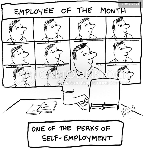 job perks cartoon