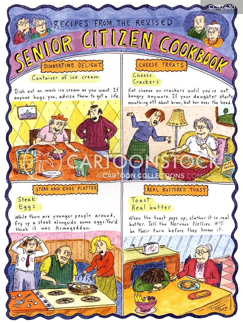 Seniors cartoon