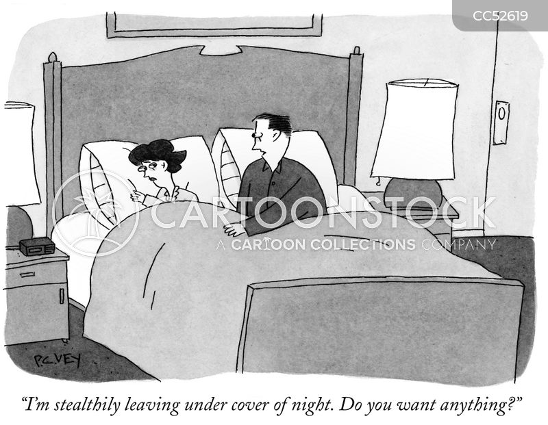 sneaking out cartoon