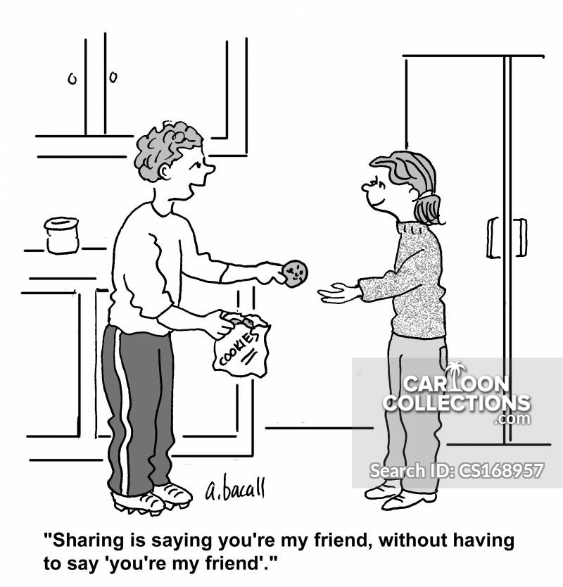 good sharing cartoon