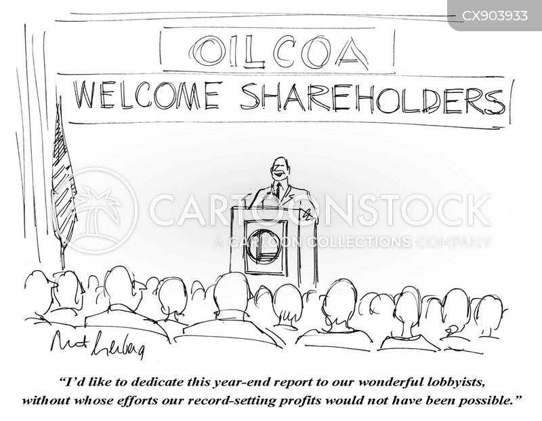 oil companies cartoon