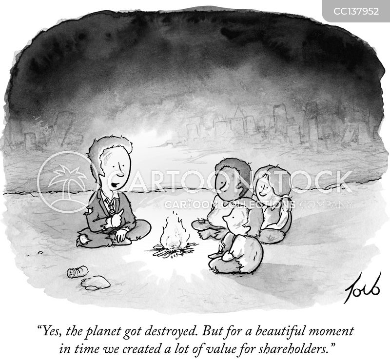 environmental destruction cartoon