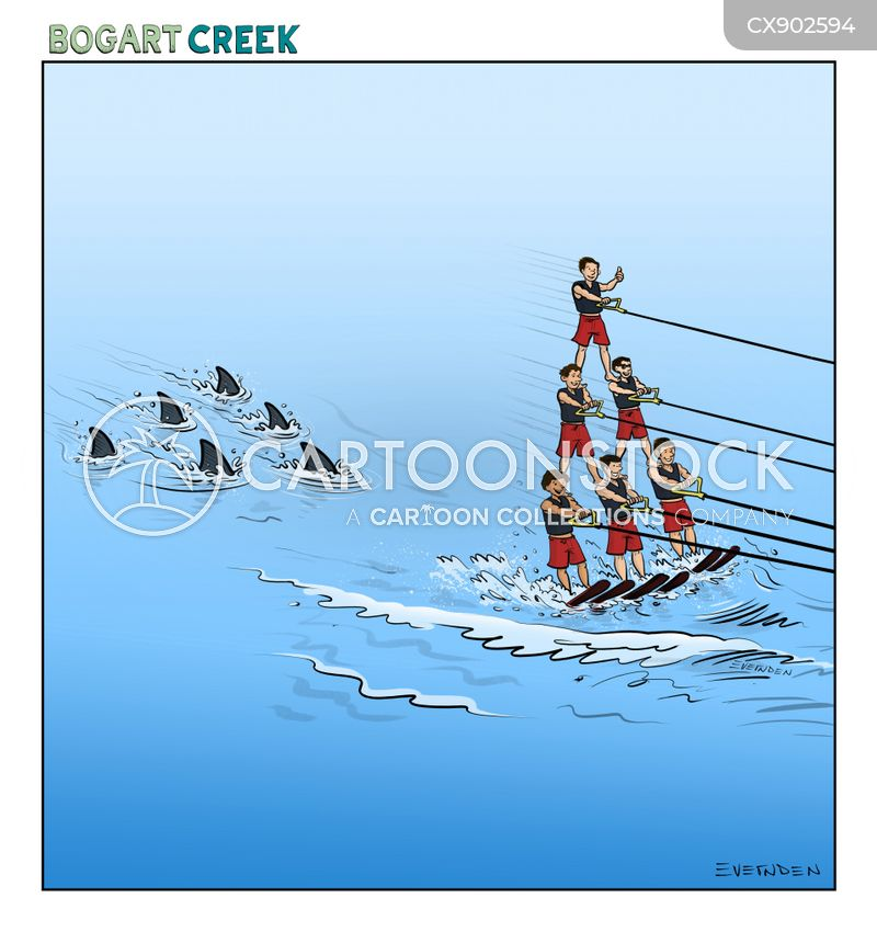 water-sports cartoon