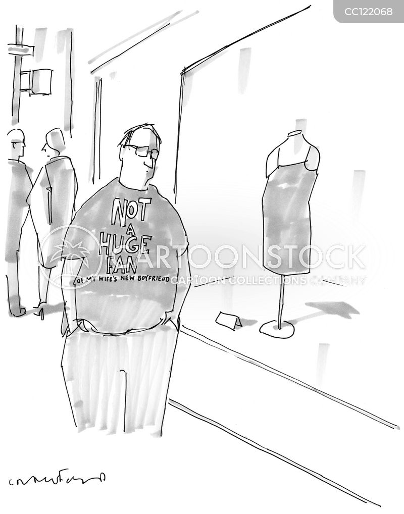 Novelty T-shirt cartoon
