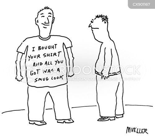 self-satisfaction cartoon
