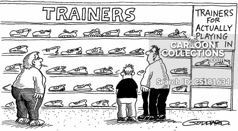 trendy trainers cartoon