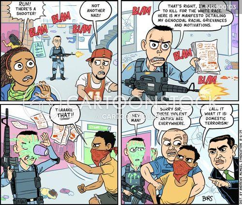 neo-nazis cartoon