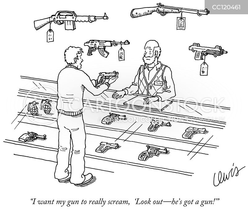 gun buyers cartoon