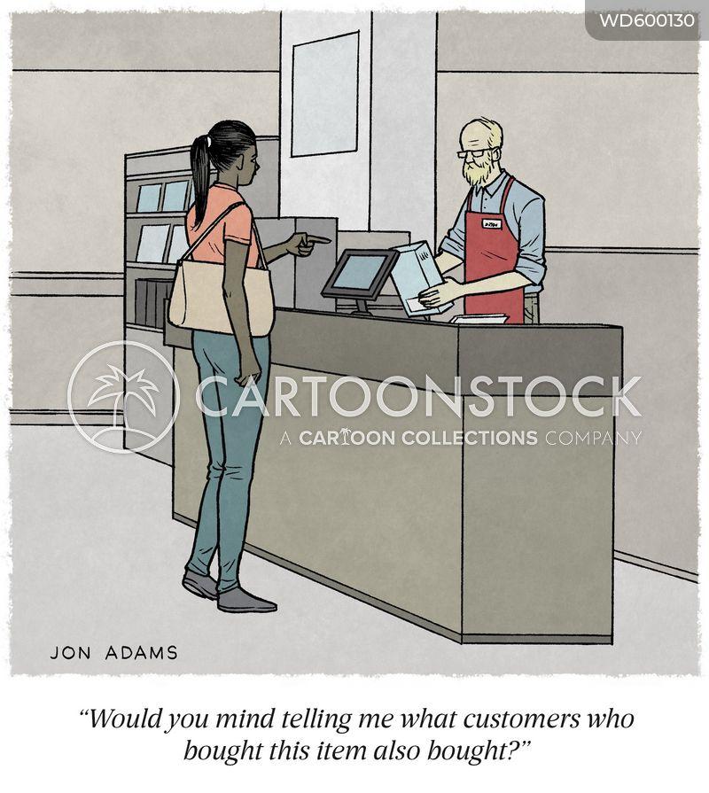 retail assistant cartoon