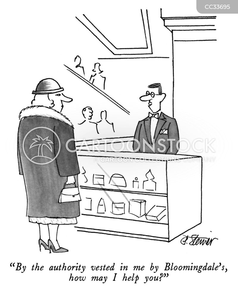 sales assistant cartoon