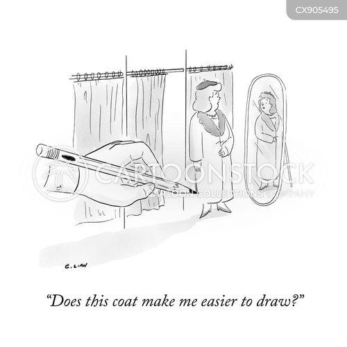 changing room cartoon