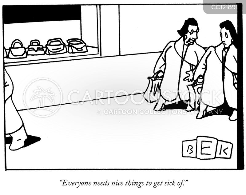 going shopping cartoon