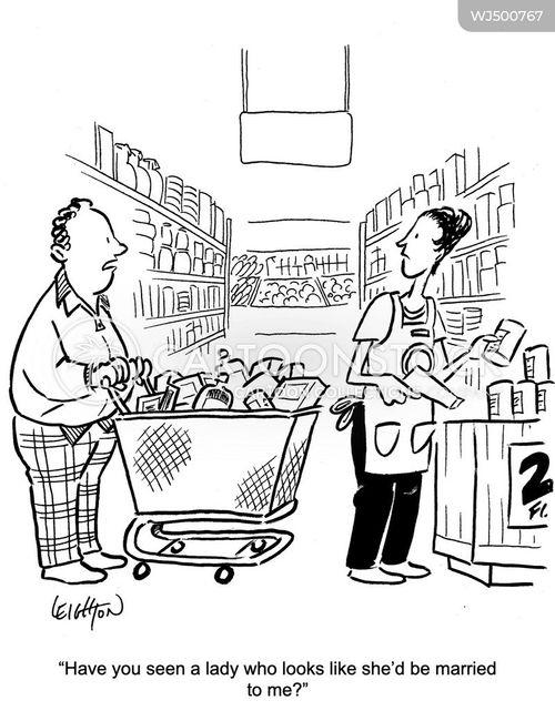 retail workers cartoon