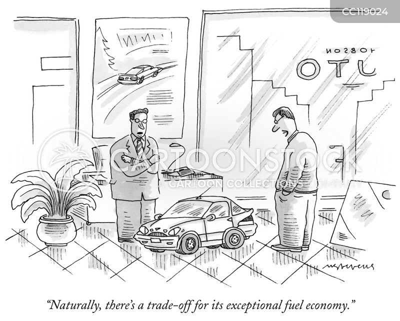 trade off cartoon