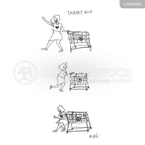 shopping trip cartoon