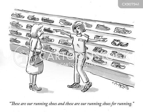 trainers cartoon