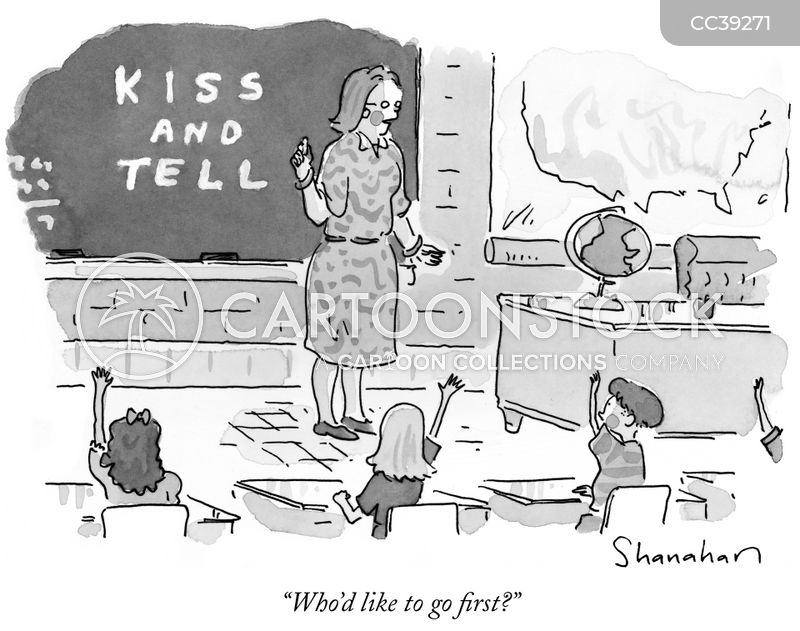 kiss & tell cartoon