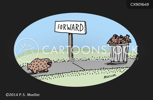 rubbish bin cartoon