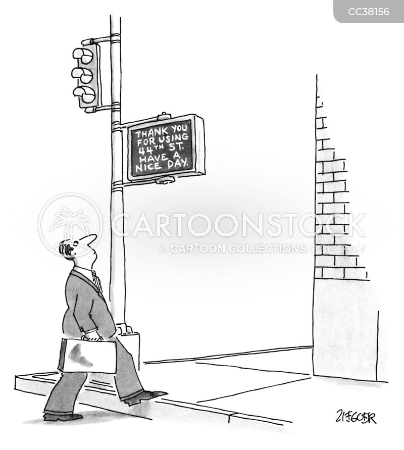 walk signs cartoon