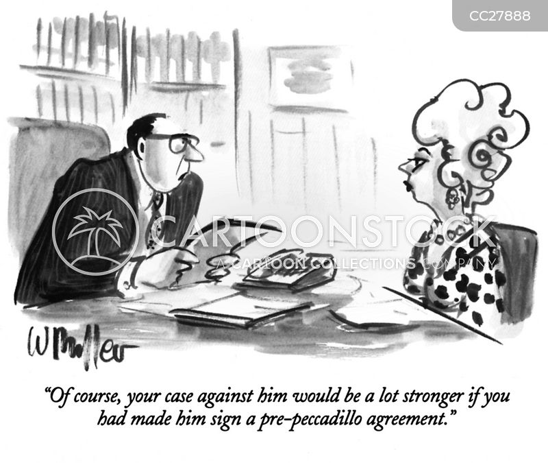 contract cartoon
