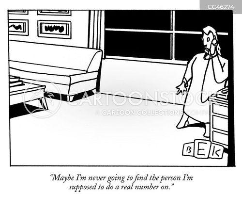 single person cartoon